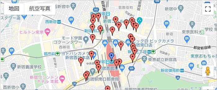 ナースJJ 地図検索